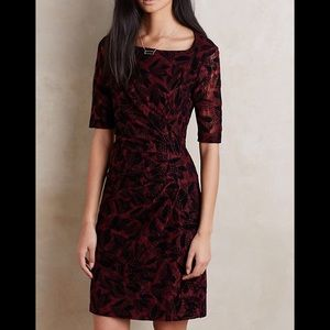 NWT Anthropologie Maeve Elorn Size 16 Wine Dress